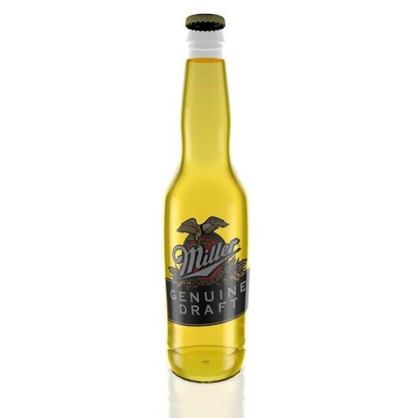 Miller Beer Bottle - 3DOcean Item for Sale