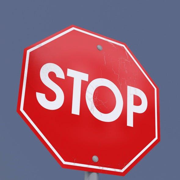 Sign Stop 3DSMax 2011
