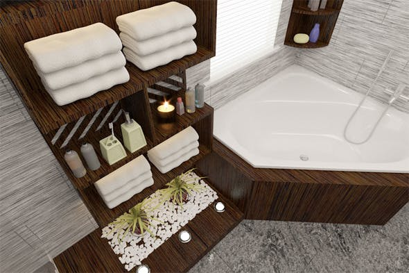 Interior design / Bathroom - 3DOcean Item for Sale