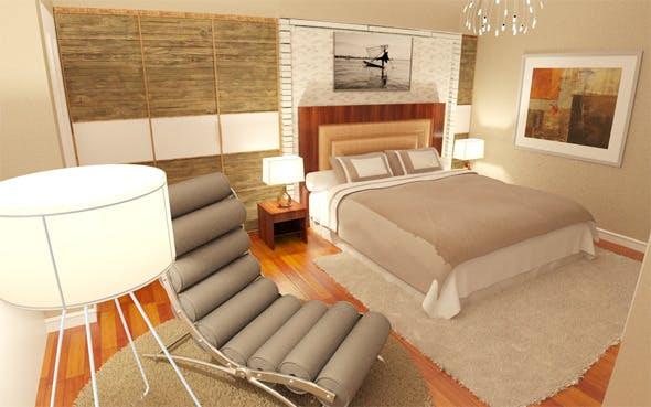 Interior design / Bedroom / Bathroom - 3DOcean Item for Sale
