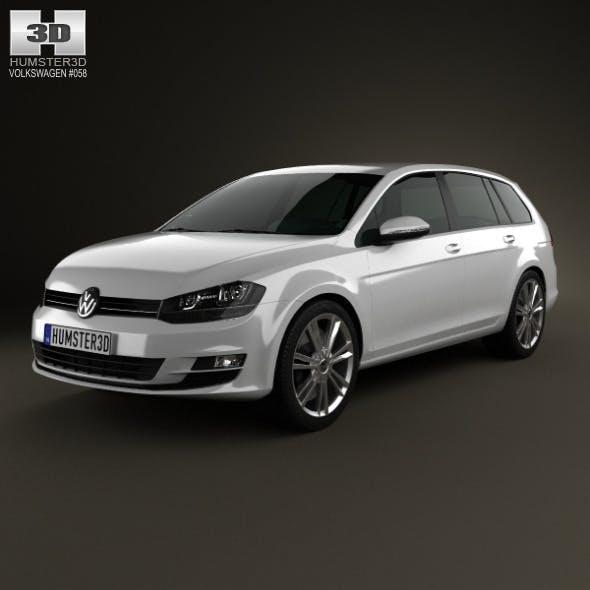 Volkswagen Golf Mk7 variant 2014 - 3DOcean Item for Sale
