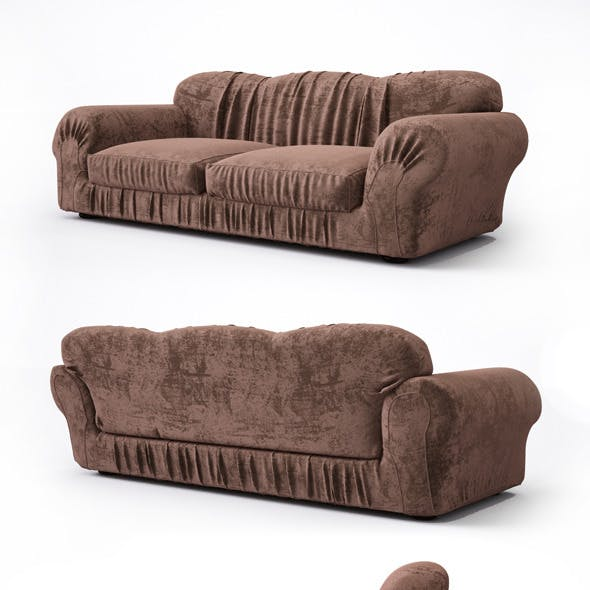 High quality sofa with pleats