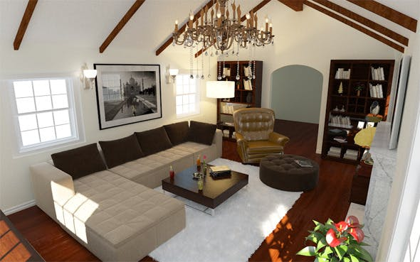 Interior / Living - 3DOcean Item for Sale