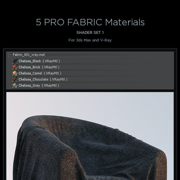 5 Pro Fabric Materials - set 1