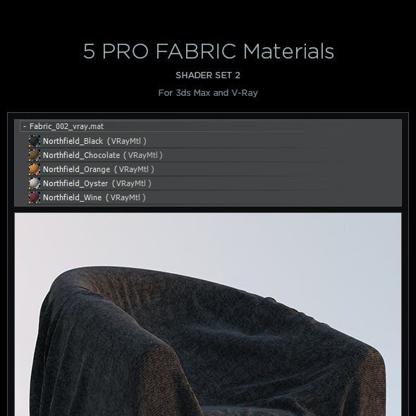 5 Pro Fabric Materials - set 2