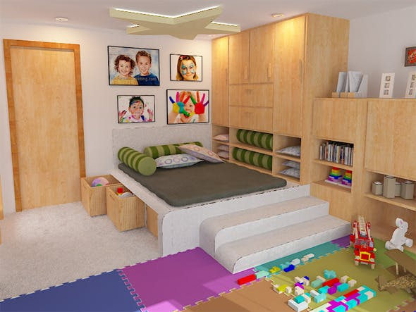Interior / Child room - 3DOcean Item for Sale