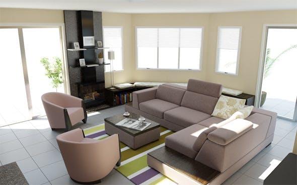 Interior / Sunroom - 3DOcean Item for Sale