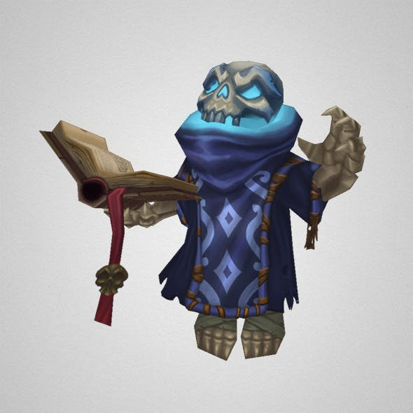 Low Poly Skeleton Mage