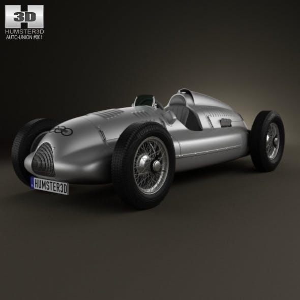 Auto Union Type D 1938 - 3DOcean Item for Sale