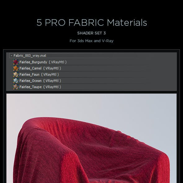 5 Pro Fabric Materials - set 3