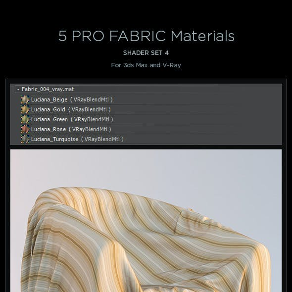 5 Pro Fabric Materials - set 4