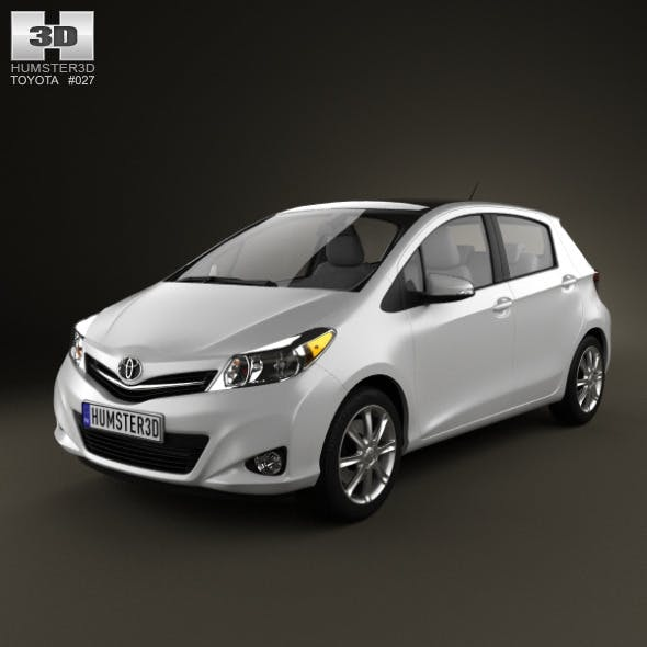 Toyota Yaris 5door 2012  - 3DOcean Item for Sale