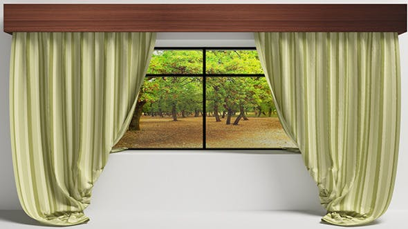 Curtain - With Window (Vray-C4D) - 3DOcean Item for Sale