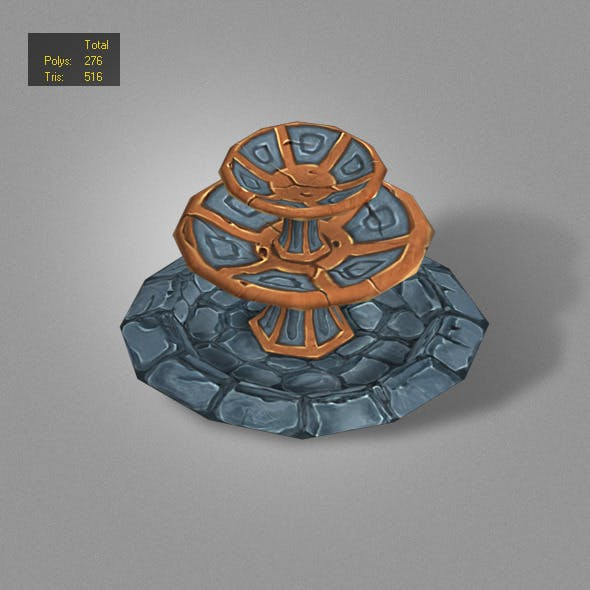 fountain low poly