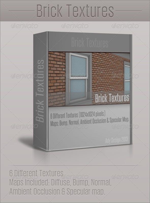Brick Textures - 3DOcean Item for Sale