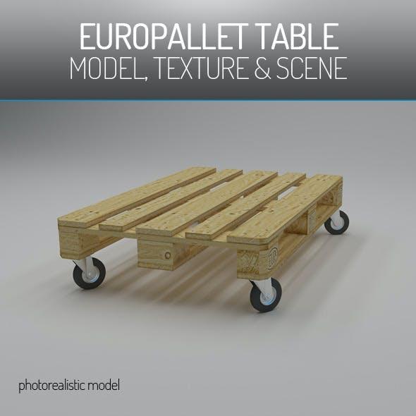 EuroPallet Table