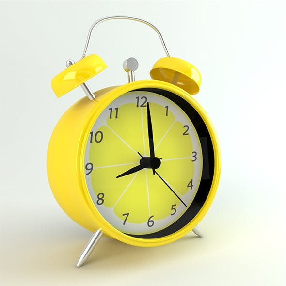 Photo-real Retro Coloured Alarm Clock
