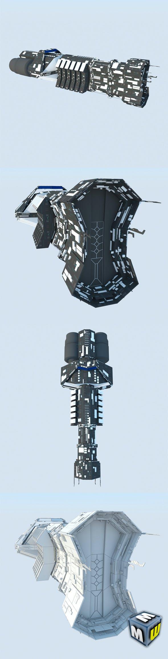 Spaceship Cargo Ultra MAX 2011 - 3DOcean Item for Sale