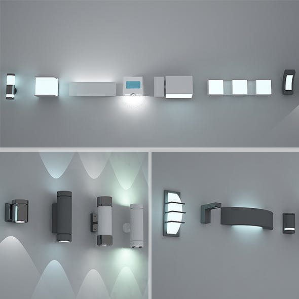 Exterior / Interior lights Pack 1 VRay Max 2011