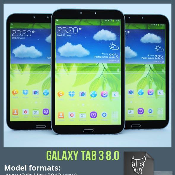 Samsung Galaxy Tab 3 8.0 with Render Setup
