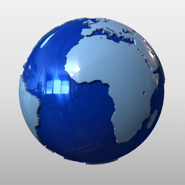 News Earth Globe - 3DOcean Item for Sale