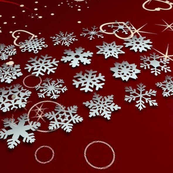 20 Pack of 3D Snowflakes