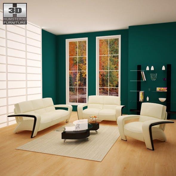 Living room furniture 08 Set - 3DOcean Item for Sale