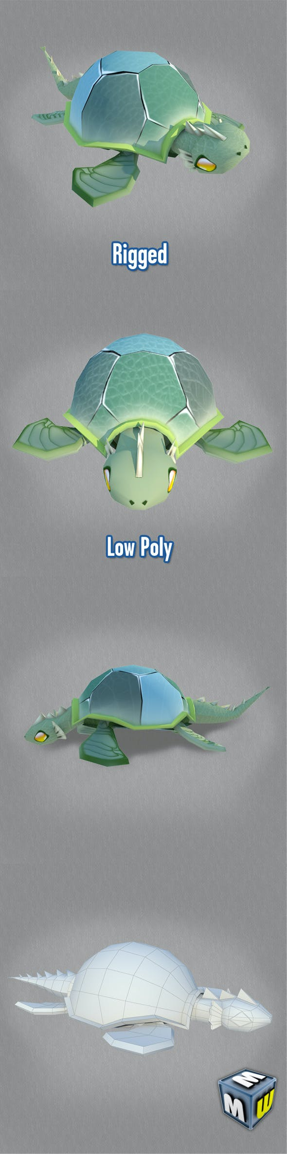 Turtle-Low Poly Character MAX 2011 - 3DOcean Item for Sale