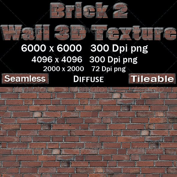 Brick Wall 2 3D Texture