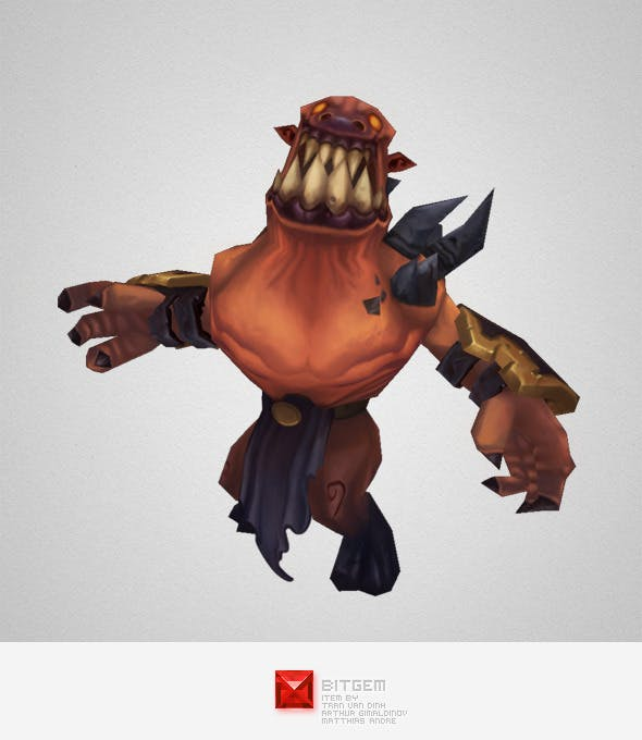 Low Poly Demon Grunt - 3DOcean Item for Sale