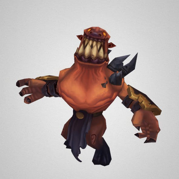 Low Poly Demon Grunt