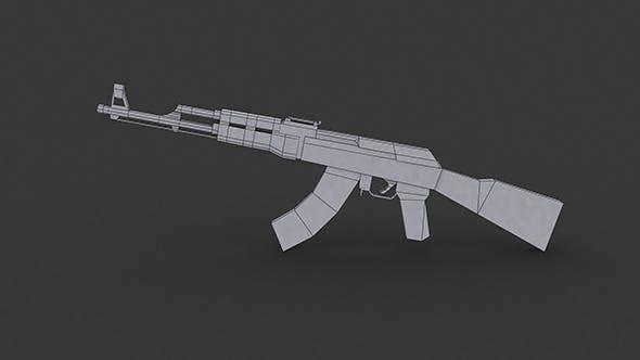 AK-47 Low Ply Model - 3DOcean Item for Sale