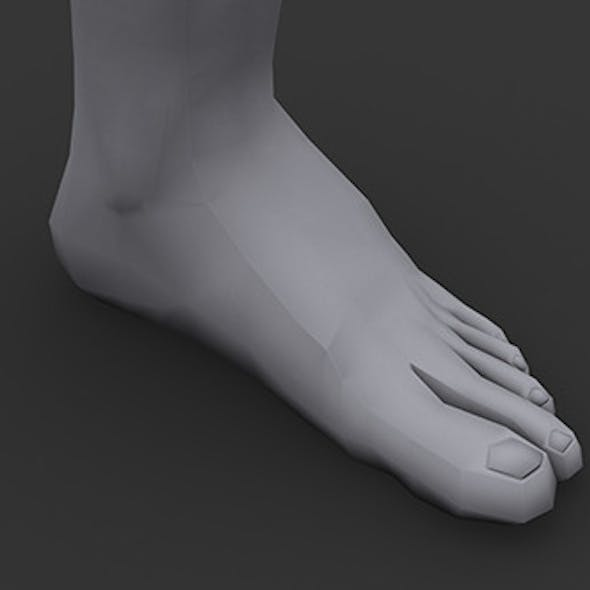 Human Male Foot Low Poly