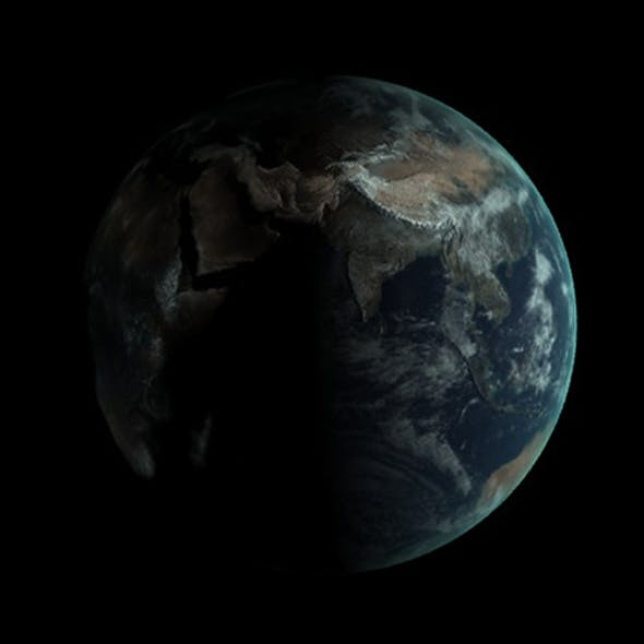 Realistic Earth Globe