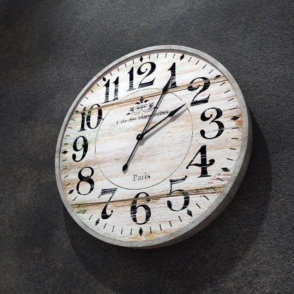 Vintage Wall Clock - 3DOcean Item for Sale