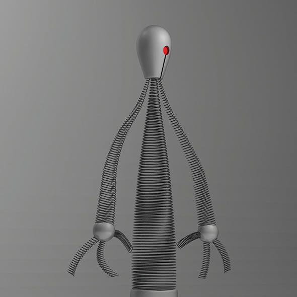 Springman - Personnal creation High Poly Character