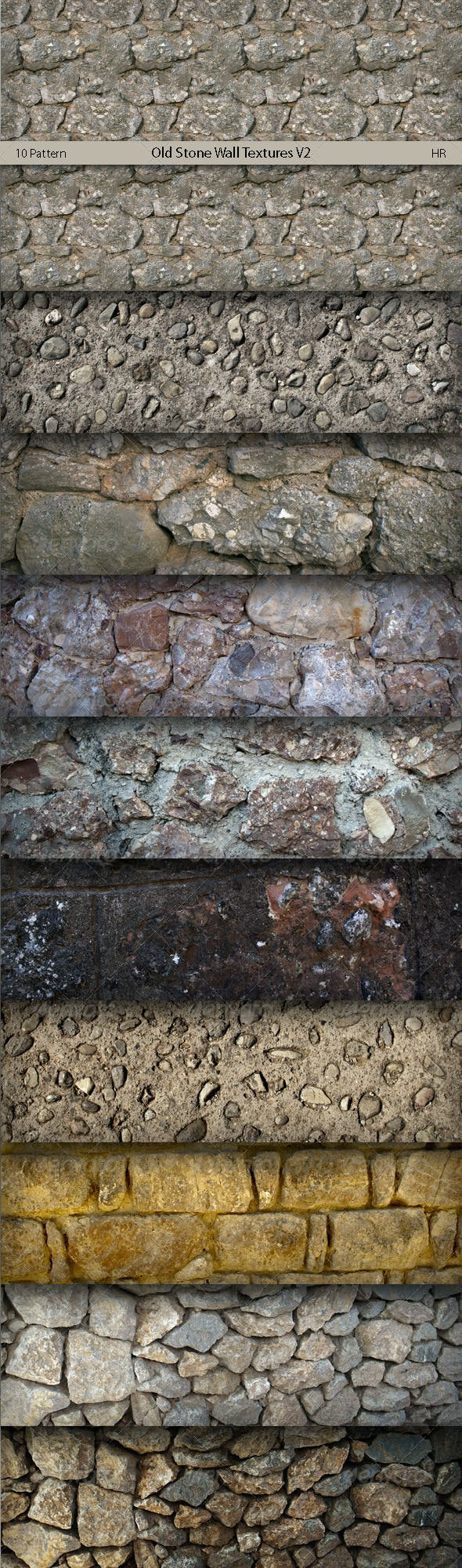 Old Stone Wall Surface Textures V2  - 3DOcean Item for Sale