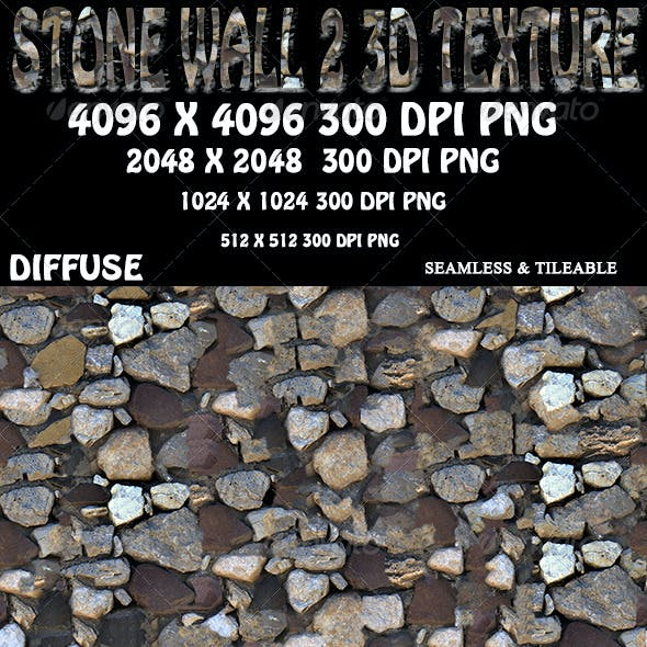Stone Wall 2 3D Texture