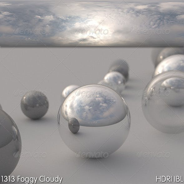 HDRI IBL 1313 Foggy Cloudy - 3DOcean Item for Sale