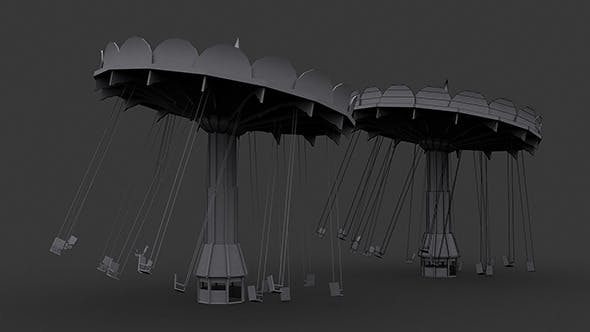 Carousel Low Poly Model - 3DOcean Item for Sale