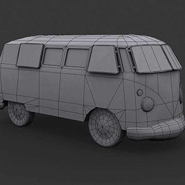 VW Kombi Low Poly