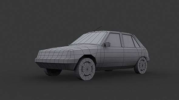 Peugeot 205 Low Poly - 3DOcean Item for Sale