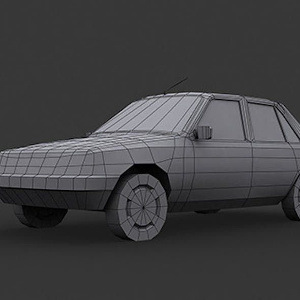 Peugeot 205 Low Poly