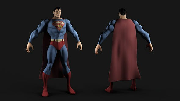 Superman - MP and HP Textured Model - 3DOcean Item for Sale