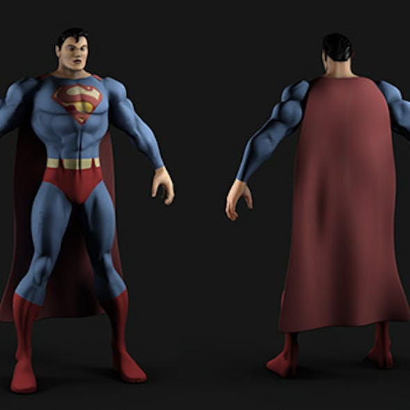 Superman - MP and HP Textured Model