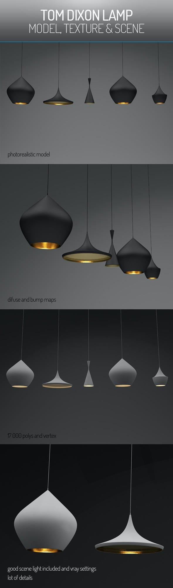 Tom Dixon Lamp - 3DOcean Item for Sale