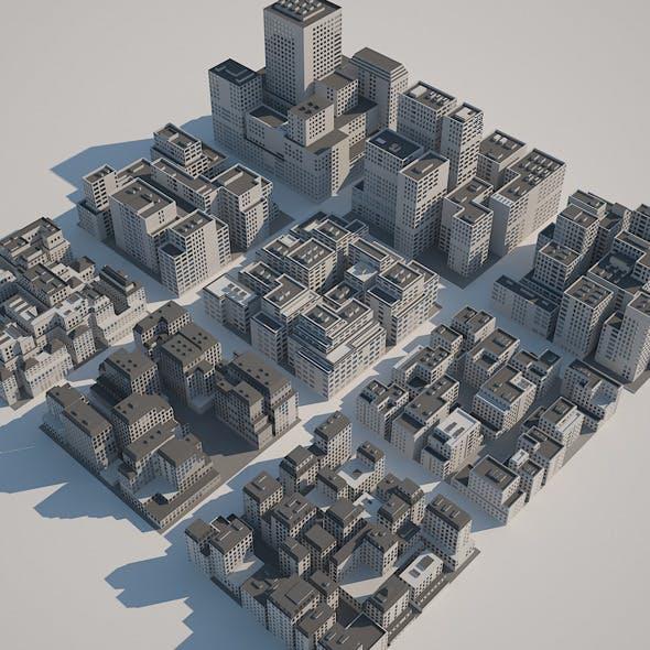 Buildings Set - A - 3DOcean Item for Sale