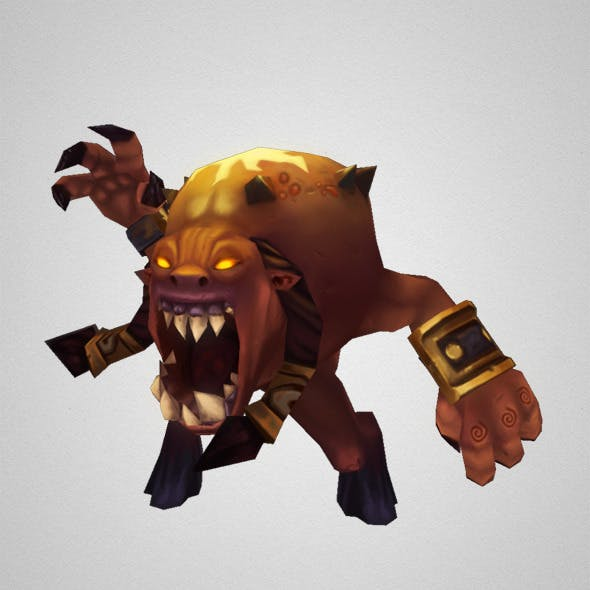 Low Poly Demon Living Bomb