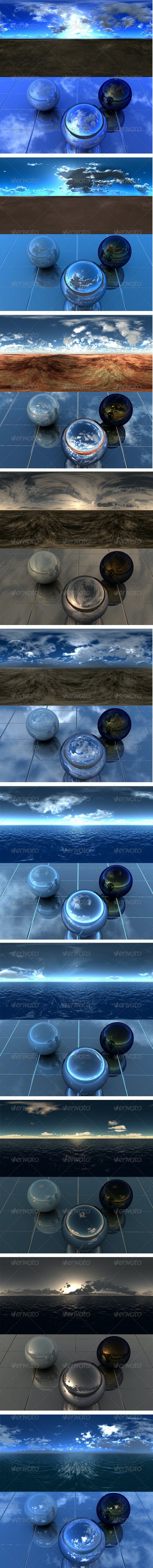 Desert And Sea - Pack3 - 3DOcean Item for Sale