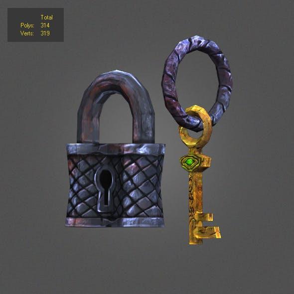 iron padlock low poly